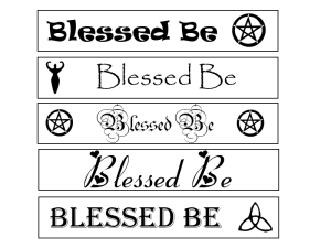 Printable pagan bookmarks with blessed be