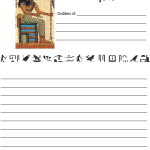 Egyptian notebooking pages for Pagan homeschooling