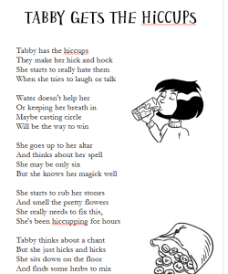 Tabby Gets the Hiccups - a Pagan poem