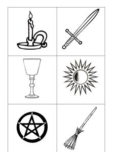 pagan kids card games