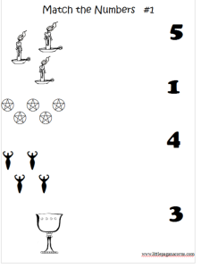 pagan math worksheet printables