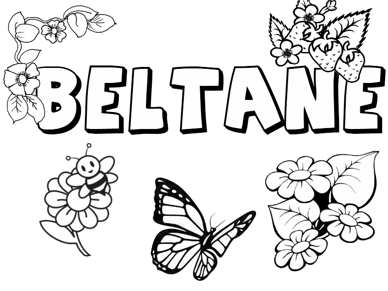 Beltane Collection Little Pagan Acorns Pagan Coloring Pages