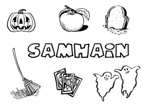 Samhain printables for Pagan kids