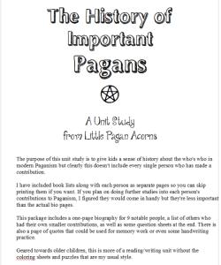 pagan unit studies