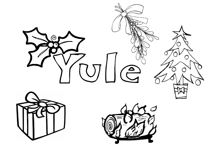 pagan yule coloring pages - photo #5