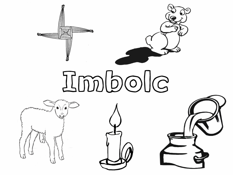 candlemas coloring pages | Imbolc Collection – Little Pagan Acorns