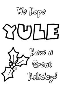 printable pagan yule cards