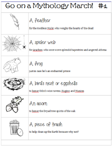 Pagan scavenger hunt printable lists
