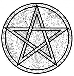 Detailed Pagan coloring pages, for adults or kids