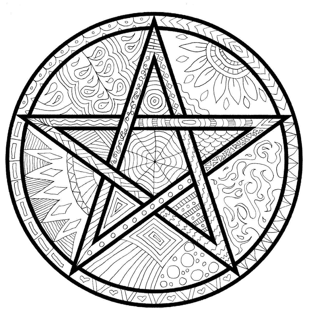 pagan yule coloring pages - photo #37