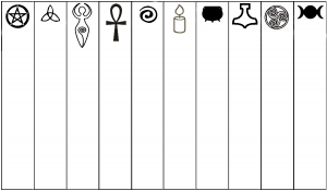 Symbol bookmarks for Pagan kids