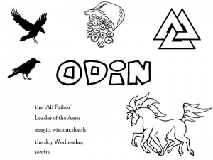 Norse Deity coloring pages for Pagan kids