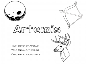 Greek deity coloring pages for Pagan kids