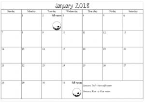 calendar pages 2018