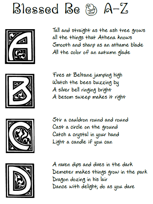 pagan alphabet poem