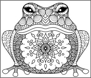 pagan animal coloring pages - Zentangle Coloring Pages