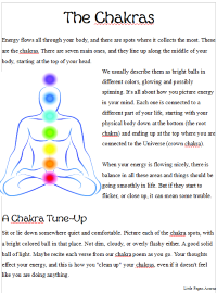 image relating to Printable Chakra Chart called Chakras for Youngsters Small Pagan Acorns