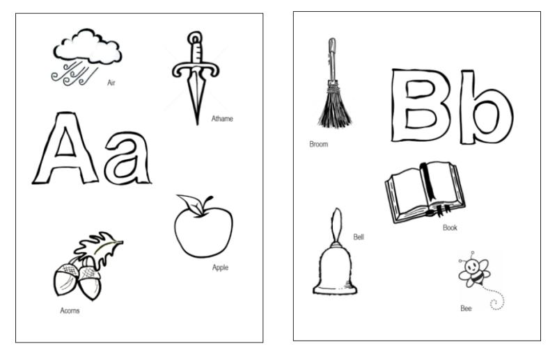 Mini Alphabet Coloring Pages