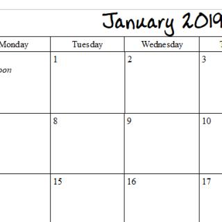 Calendar Pages for 2019 – Little Pagan Acorns